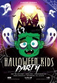 halloween kids party free psd flyer template - Free Psd Flyer Templates