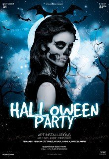 Halloween Party PSD Flyer Template