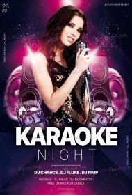 Karaoke-Night Flyer