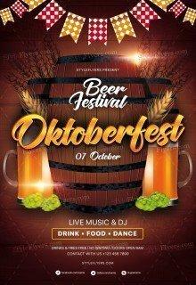 Oktoberfest PSD Flyer Template