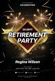 Retirement Party PSD Flyer Template