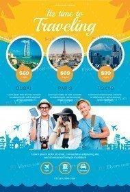 Travel PSD Flyer Template