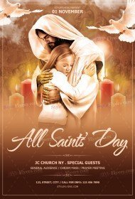 All Saints' Day PSD Flyer Template