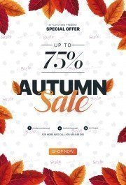 Autumn Sale PSD Flyer Template