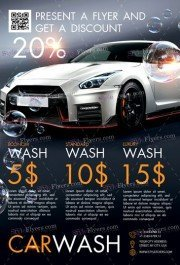 Car Wash PSD Flyer Template