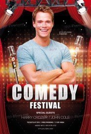 Comedy Festival PSD Flyer Template