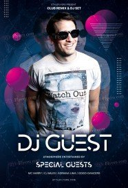 DJ Guest PSD Flyer Template