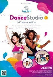 Dance Studio PSD Flyer Template