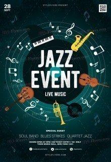 Jazz Concert PSD Flyer Template