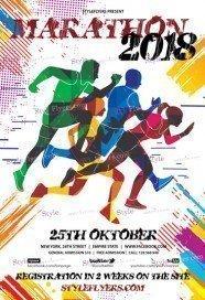 Marathon PSD Flyer Template