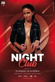 Night Club PSD Flyer Template