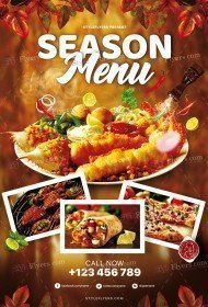 Season Menu PSD Flyer Template