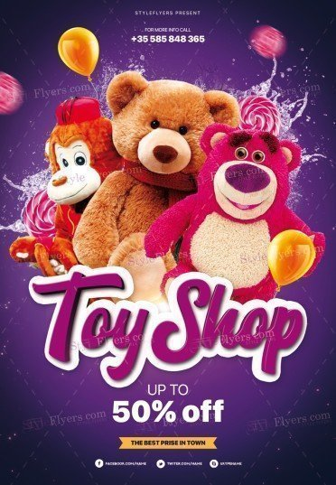 Toy Shop PSD Flyer Template