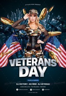 Veterans Day PSD Flyer Template