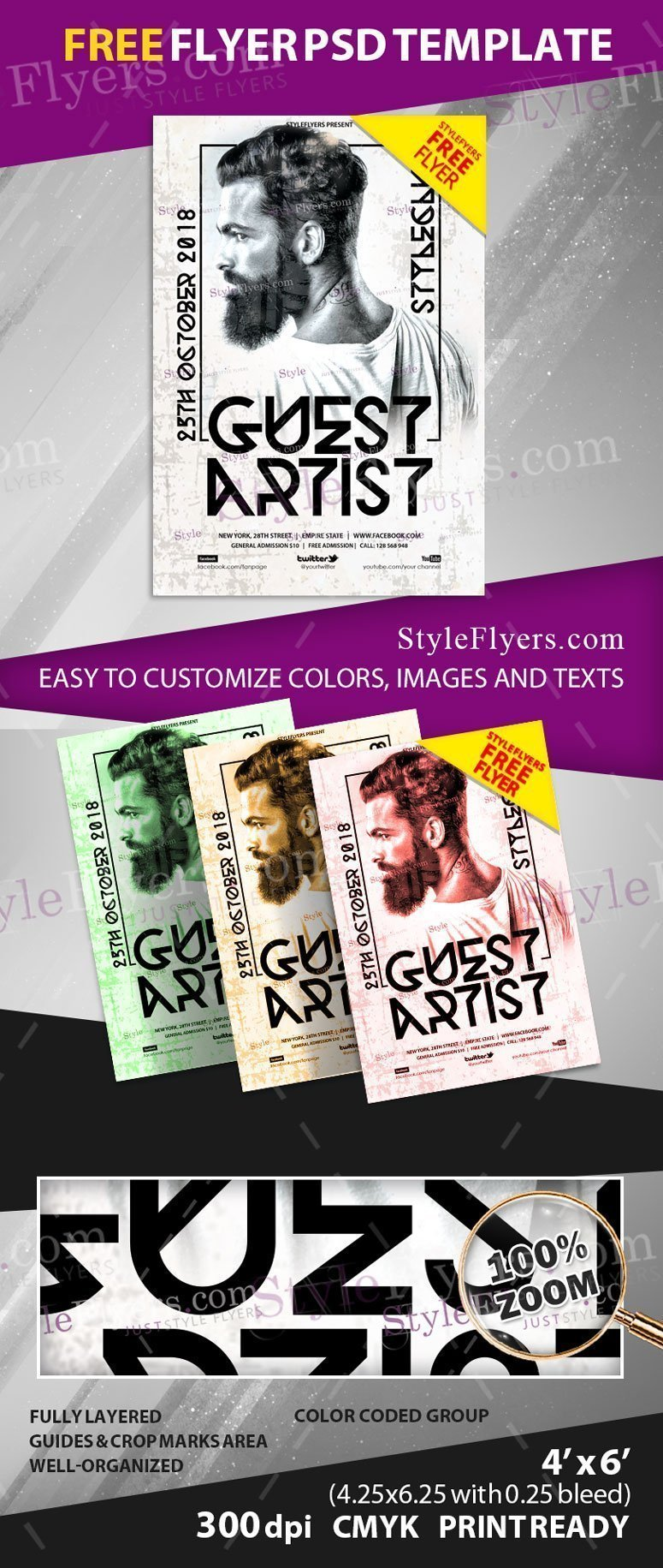 Guest Artist FREE PSD Flyer Template Free Download #26604 ...