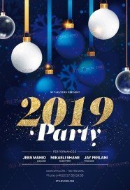2019 Party PSD Flyer Template