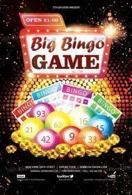 Big Bingo Game PSD Flyer Template