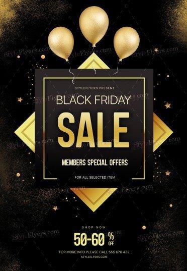 Black Friday PSD Flyer Template