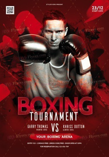 Box Tournament PSD Flyer