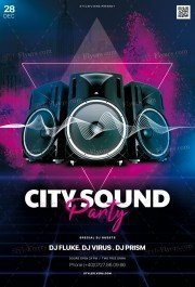 City Sound Party PSD Flyer Template