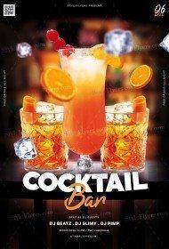 Cocktail Bar PSD Flyer Template