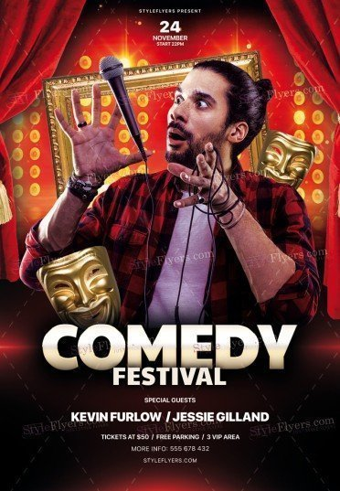 Comedy Night PSD Flyer Template