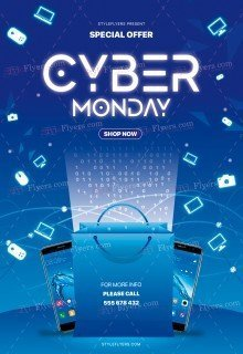 Cyber Monday PSD Flyer Template