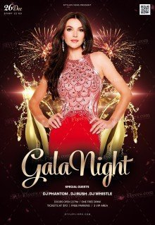 Gala Night PSD Flyer Template