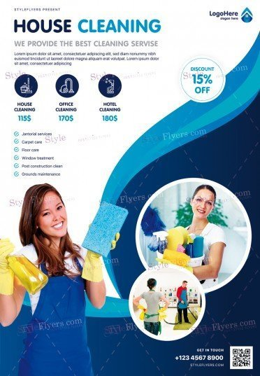 House Сleaning PSD Flyer Template