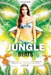 Jungle Beats PSD Flyer Template