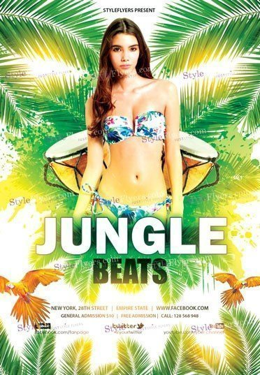 Jungle Beats PSD Flyer Template