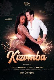 Kizomba PSD Flyer Template