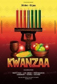 Kwanzaa PSD Flyer Template