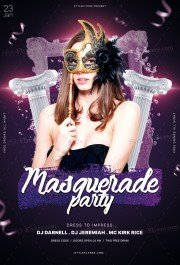 Masquarade Party PSD Flyer Template