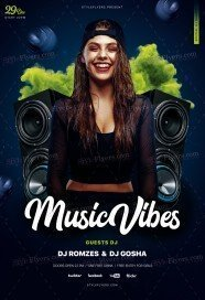 Music Vibes PSD Flyer Template