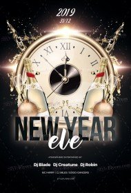 New Year Eve PSF Flyer Template
