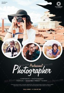Photographer PSD Flyer Template