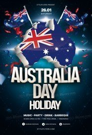 Australia Day Holiday PSD Flyer Template
