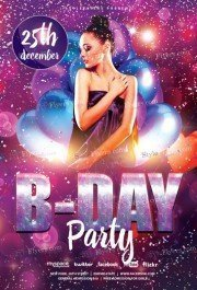 B-Day Party PSD Flyer Template