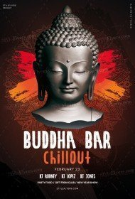 Buddha Bar Chillout PSD Flyer Template