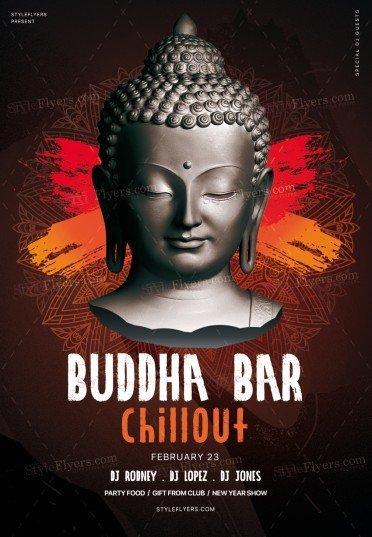 Buddha Bar Chillout PSD Flyer Template