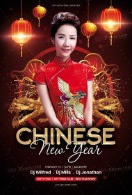 Chinese New Year PSD Flyer Template