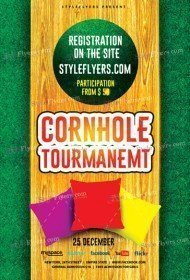 Cornhole Tourmanemt PSD Flyer Template
