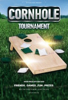 Cornhole Tournament PSD Flyer Template
