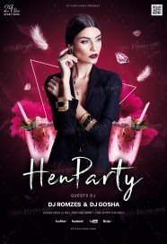Hen Party PSD Flyer Template
