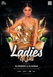 Ladies Night PSD Fyer Template