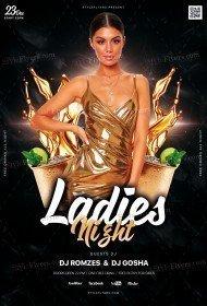 Ladies Night PSD Fyer Template