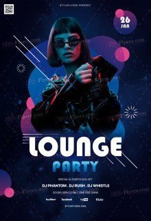 Lounge Party PSD Flyer Template