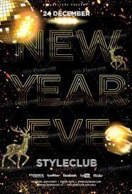 new year eve flyer free psd flyer template