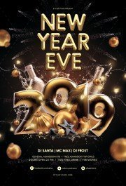New Year Eve PSD Flyer Template